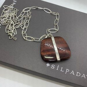 NWT Silpada Sterling Silver & Tigers Eye Necklace